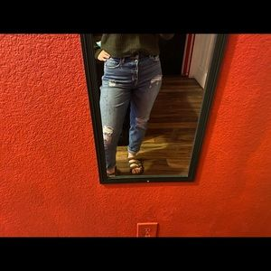 Highwasted stretchy boyfriend jeans size 7R